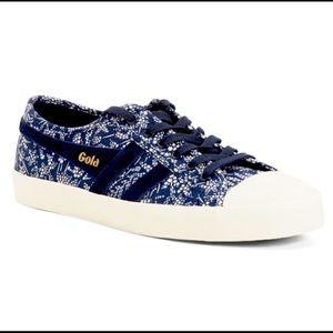 Goal Sneakers - Blue Floral